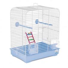 Клетка для птиц Белла 37x25x37см хром/светло-голубая