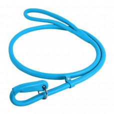 Поводок-удавка WAUDOG GLAMOUR круглый ш. 13мм, д. 183см, голубой