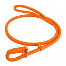 Поводок-удавка WAUDOG GLAMOUR круглый шир 10мм, длина 135см, оранжевый