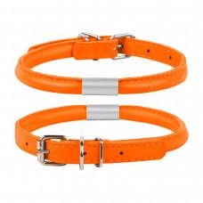 Ошейник WAUDOG GLAMOUR круглый с адресником (д. 13мм,дл. 53-61см), оранжевый