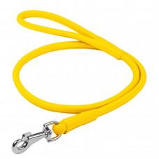 Поводок WAUDOG GLAMOUR круглый ш. 6мм, д. 183см, желтый