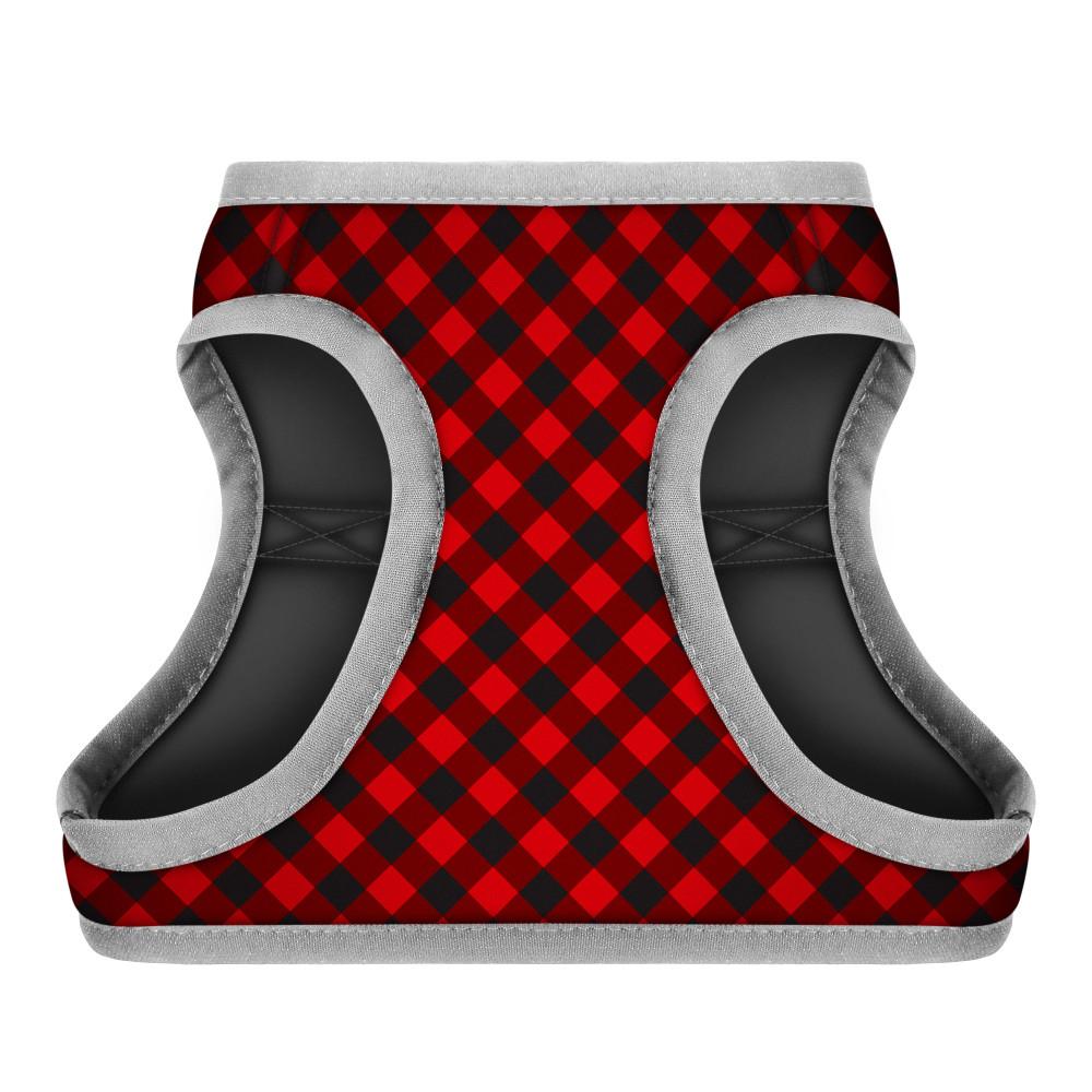 ШлеяWAUDOGс рисунком Шотландка красная (размерXS3, обхват груди 32-35 см, обхват шеи 22-24 см)