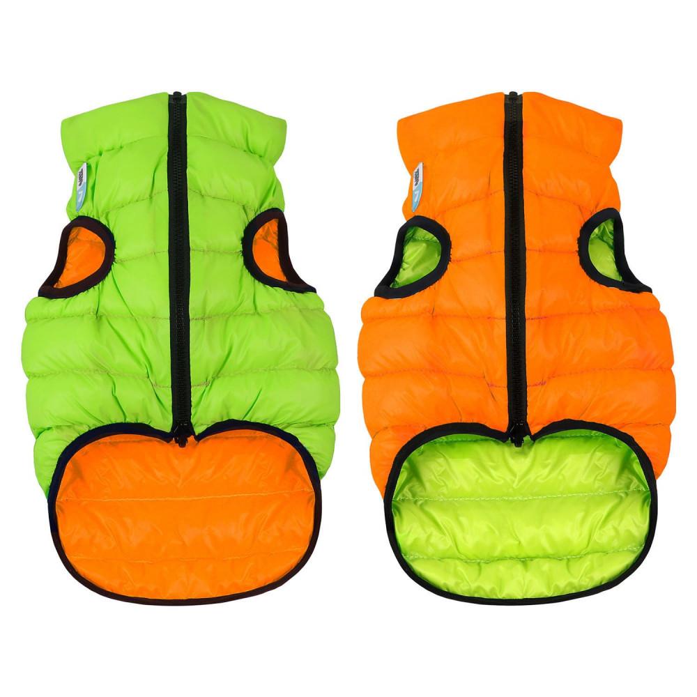 Курточка для собак AiryVest двусторонняя, размер M 40, оранжево-салатовая