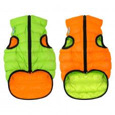Курточка для собак AiryVest двусторонняя, размер XS 30, оранжево-салатовая