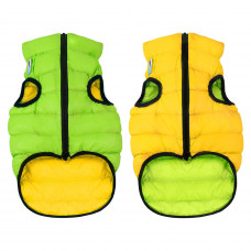 Курточка для собак AiryVest двусторонняя, размер XS 30, салатово-желтая