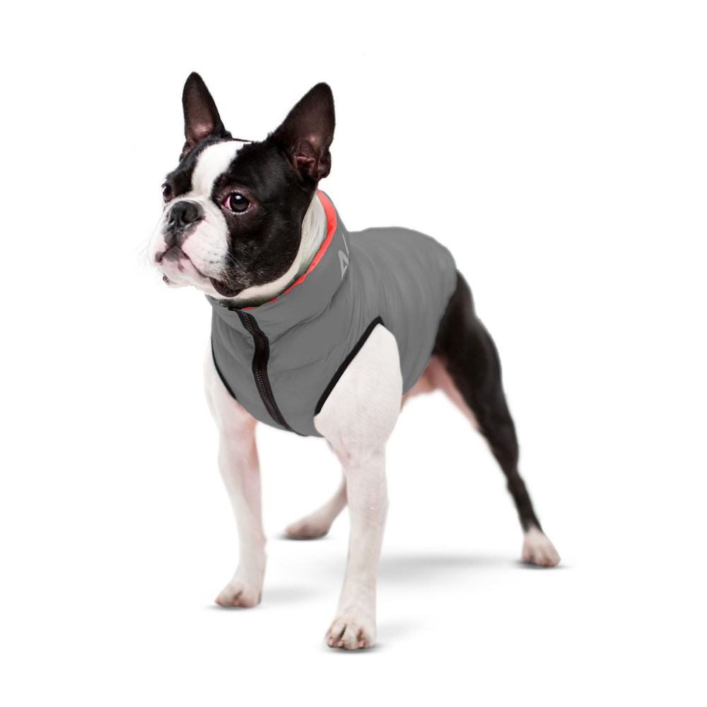 Курточка для собак AiryVest двусторонняя, размер М 47, кораллово-серая