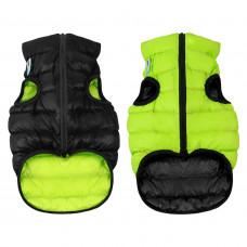 Курточка для собак AiryVest двусторонняя, размер L 65, cалатово-черная