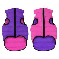 Курточка для собак AiryVest двусторонняя, размер M 50, розово-фиолетовая
