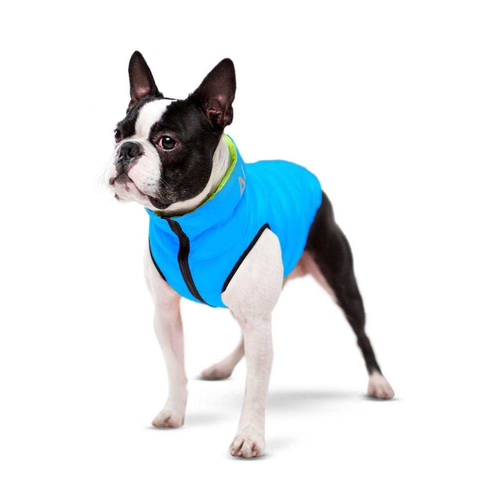 Курточка для собак AiryVest двусторонняя, размер L 65, салатово-голубая