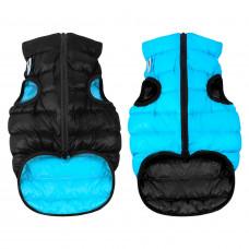 Курточка для собак AiryVest двусторонняя, размер L 55, черно-голубая