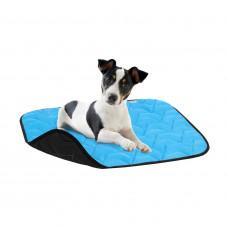 Подстилка для собакAV, размер L ,100*70 см, голубо-черная