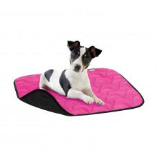 Подстилка для собакAV, размер L, 100*70 см, розово-черная
