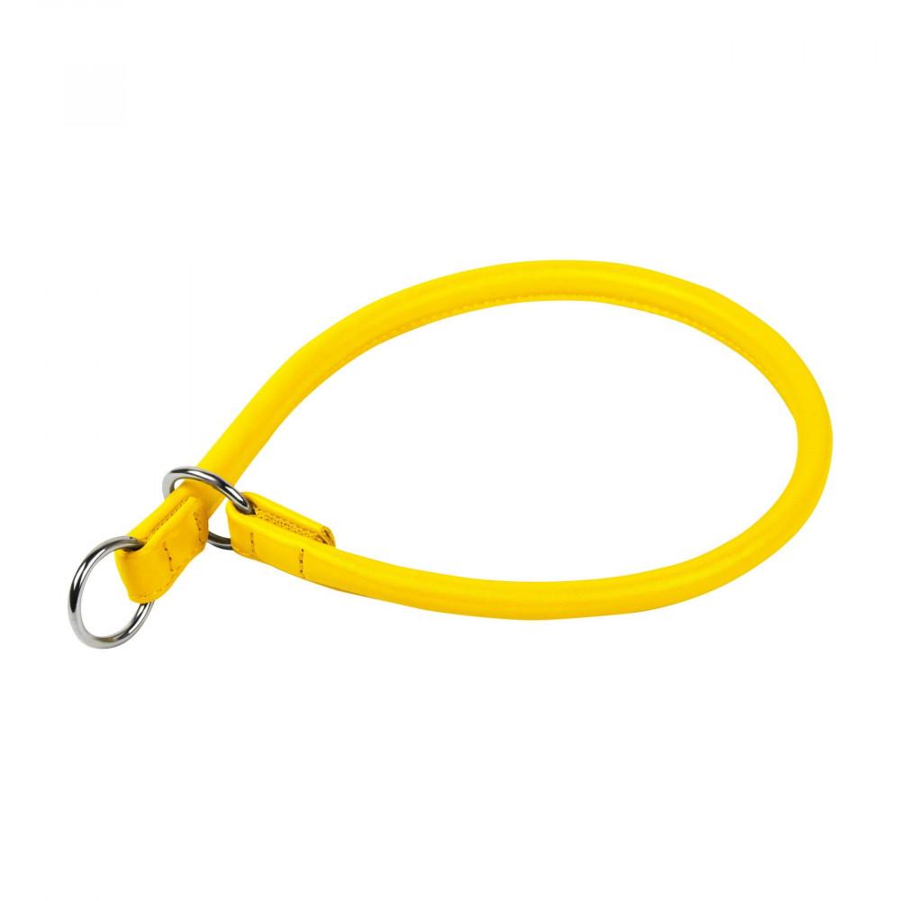 Ошейник-удавка рывковый CG (д. 10мм, дл. 45 см), желтый