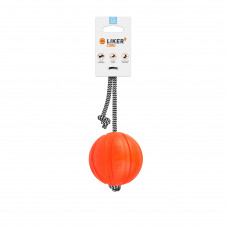 Мячик ЛАЙКЕР9 Корд на шнуре, диаметр 9 см
