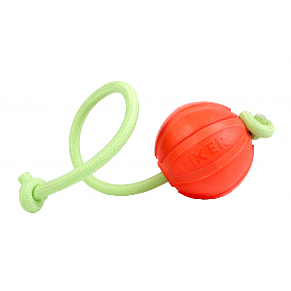 Мячик ЛАЙКЕР9 Люми на шнуре, диаметр 9 см