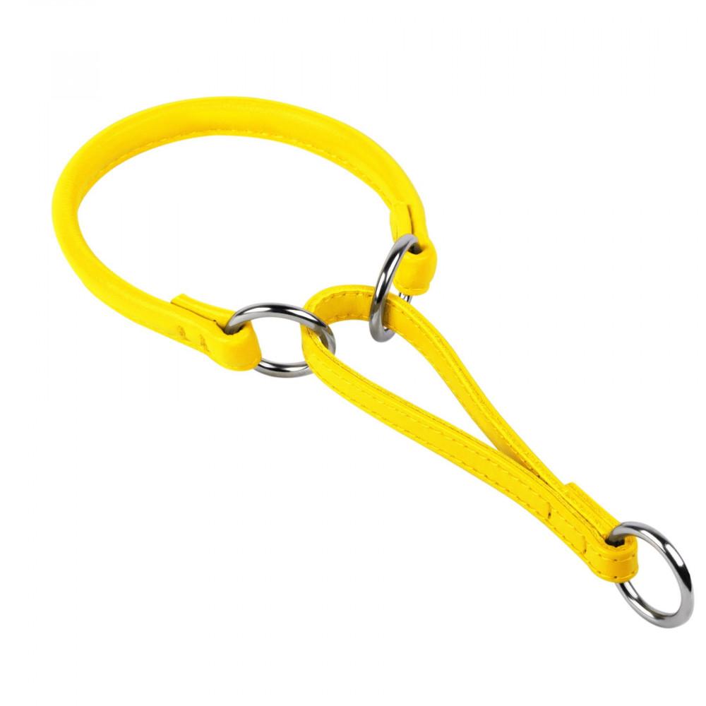 Ошейник-удавка WAUDOG GLAMOUR (д. 13мм, дл. 70 см), желтый