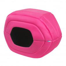 Домик для домашних животных AiryVest, размер S, 55*22*34 см, розовый