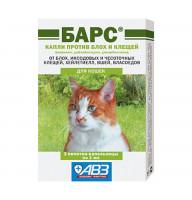Капли БАРС НОВЫЙ для кошек (3пип.) (фипронил, дифлубензурон, дикарбоксимид) (AB1144)