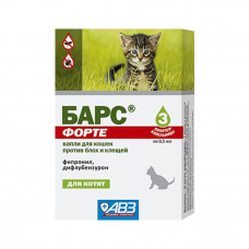 Капли БАРС ФОРТЕ п/б  для котят (3пип.) (AB1152)