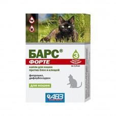 Капли БАРС ФОРТЕ п/б  для кошек (3пип.) (AB1153)