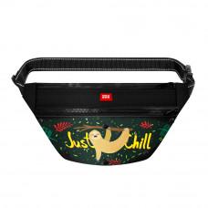 Поясная сумка - бананка Waudog Textile для корма и аксесcуаров, рисунок Ленивец , размер 33*17*10 с