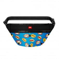 Поясная сумка - бананка Waudog Textile для корма и аксесcуаров, рисунок ВАУ , размер 33*17*10 см