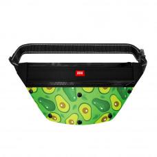 Поясная сумка - бананка Waudog Textile для корма и аксеccуаров, рисунок Авокадо , размер 33*17*10 с
