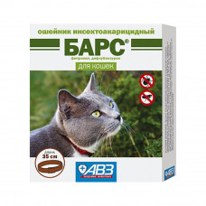 Ошейник п/б БАРС для кошек 35см (AB728)