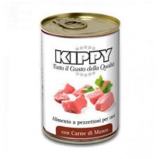 Влажный корм для собак KIPPY Dog с кусочками мяса говядины 400гр