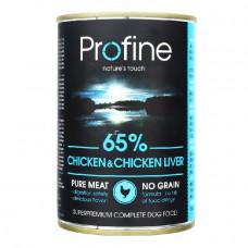 Влажный корм для собак Profine Dog k с курятиной и куриной печенью 400гр