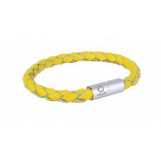 Браслет CoLLaR GLAMOUR, длина 21 см, желтый
