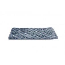 Коврик Tammy текстиль, наполнитель-пена, 90x68см, синий