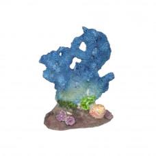Коралл сине-голубой 7.5x4.5x10см