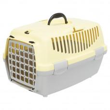 Переноска Capri 1, пластик, XS, 32x31x48 см, светло-серая/желтая