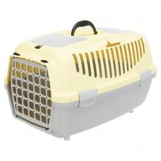 Переноска Capri 2 пластик, XS–S, 37x34x55 см, светло-серая/желтая