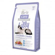 Сухой корм Brit Care Cat Lilly I have Sensitive Digestion для кошек с чувствительным пищеварением 2кг