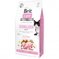 Сухой корм Brit Care Cat GF Sterilized Sensitive чувствительное пищеварение для стерилизованных котов 7кг