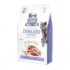 Сухой корм Brit Care Cat GF Sterilized Weight Control контроль веса для стерилизованных котов 2кг