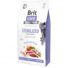 Сухой корм Brit Care Cat GF Sterilized Weight Control контроль веса для стерилизованных котов 7кг
