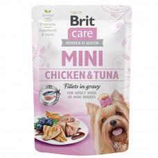 Консервы для собак Brit Care Mini pouch филе в соусе курица и тунец 85гр