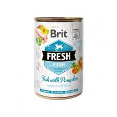 Консервы для собак Brit Fresh Fish Pumpkin k рыба и тыква 85гр