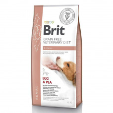 Сухой корм для собак Brit GF VetDiets Dog Renal при почечной недостаточности с яйцом, горохом и гречкой 12кг