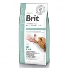 Сухой корм для собак Brit GF VetDiets Dog Struvite при мочекаменной болезни с яйцом, индейкой, горохом и гречкой 12кг