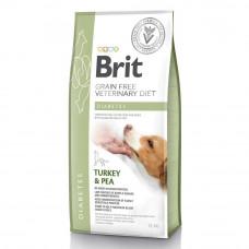 Сухой корм для собак Brit GF VetDiets Dog Diabetes при сахарном диабете с идейкой и горохом 12кг