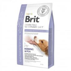 Сухой корм для собак Brit GF VetDiets Dog Gastrointestinal при нарушениях пищеварения с селедкой, лососем, горохом 2кг