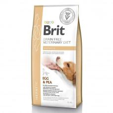 Сухой корм для собак Brit GF VetDiets Dog Hepatic при болезни печени с яйцом, горохом, бататом и гречкой 12кг