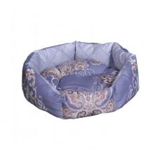 Лежак (лежанка) для кошек и собак Мур-Мяу Зефирка Серо-сиреневый