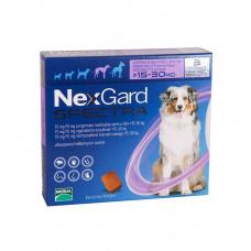 Таблетки для собак НЕКСГАРД СПЕКТРА инсектоакарицид и антигельминтик 15-30кг L 1 упаковка 3шт