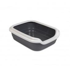 Туалет для кошек Comfort M 41х30х13.5см, серый