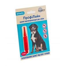 Капли на холку Профилайн инсектоакарицид для собак 20кг-40кг 1 упаковка 1 пипетка 3мл